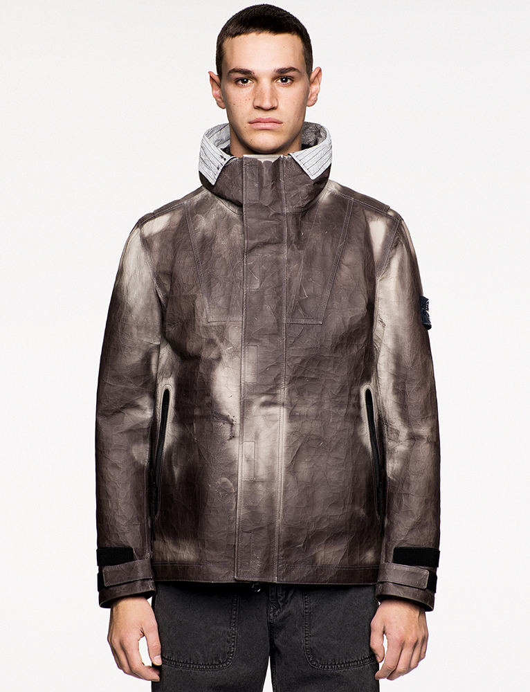 Stone Island   Ice Jacket in DyneemaRBonded Leather
